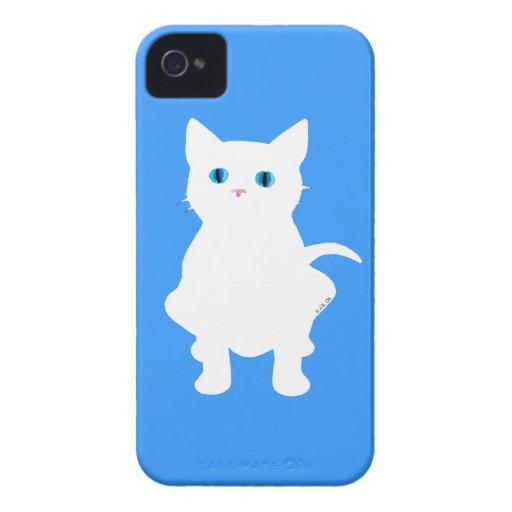 White cat silhouette iPhone 4 case
