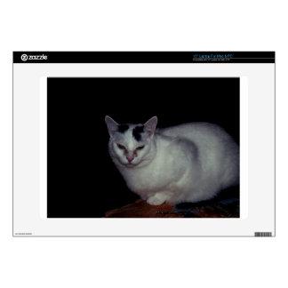 """White Cat Skin For 15"""" Laptop"""