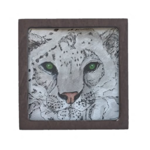 White Cat Snow Leopard Premium Jewelry Boxes