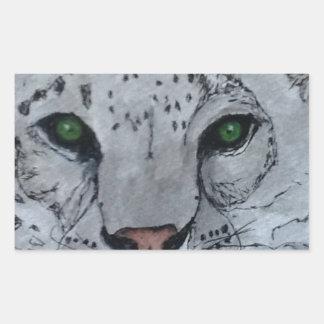 White Cat Snow Leopard Sticker