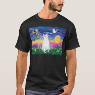White Cat - Twilight T-Shirt