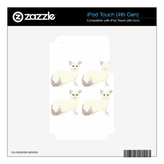 White Cat with Blue Eyes iPod Touch 4G Skin