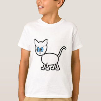 White Cat with Blue Eyes. T-Shirt