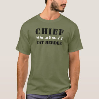 White Cats Chief Cat Herder T-Shirt