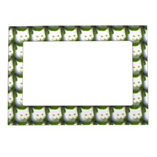 white cats magnetic frame