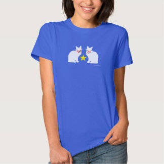 """White Cats & Star"" T-shirt"