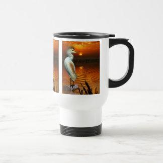White Cattle Egret Fantasy Wildlife Art Mug