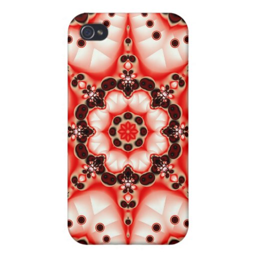 White Cell Flower Case Cases For iPhone 4
