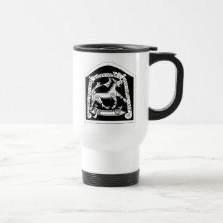 White Celtic Horse Mugs