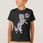 White Celtic Tribal Wolf T-Shirt