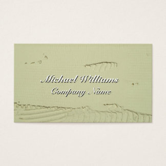 WHITE CEMENT BUSINESS CARD