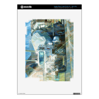 White Cement Truck Transport Skin iPad 3 Decal