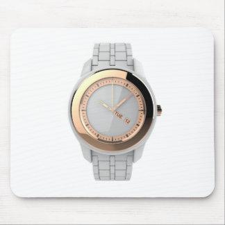 White ceramic wristwatch mouse pad