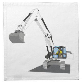 white chain excavator cloth napkin
