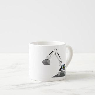 white chain excavator espresso cup