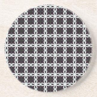 White chains pattern illustration coaster