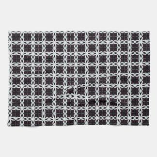 White chains pattern illustration towel