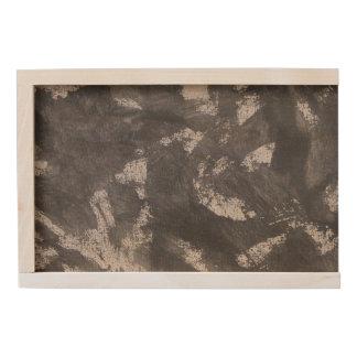 White Chalk and Black Ink Wooden Keepsake Box