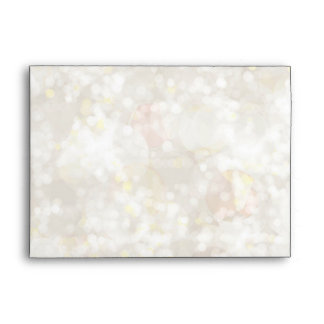 White & Champagne Bokeh Glowing Lights Elegant Envelope