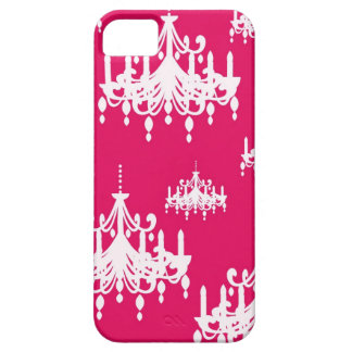 white chandelier baroque on red raspberry iPhone 5 case