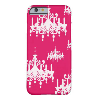 white chandelier baroque on red raspberry barely there iPhone 6 case