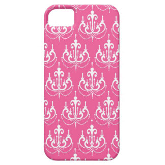 white chandelier chic pink damask iPhone 5 cover