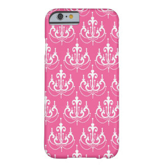 white chandelier chic pink damask barely there iPhone 6 case