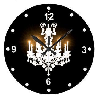 White Chandelier Clock