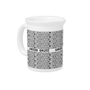 White Chant Shreem Brzee money mantra Beverage Pitcher