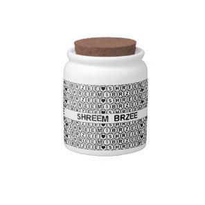 White Chant Shreem Brzee money mantra Candy Jar