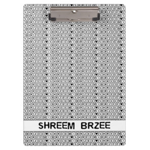 White Chant Shreem Brzee money mantra Clipboard