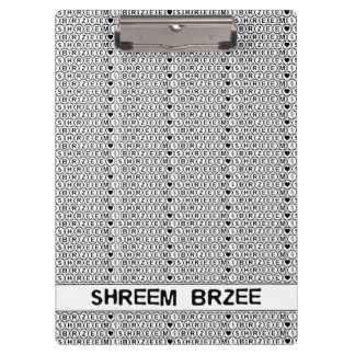 White Chant Shreem Brzee money mantra Clipboard