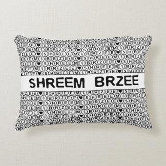 White Chant Shreem Brzee money mantra Decorative Pillow