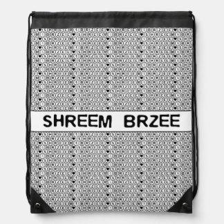 White Chant Shreem Brzee money mantra Drawstring Bag