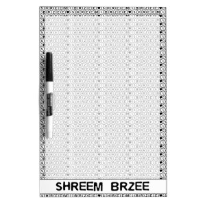 White Chant Shreem Brzee money mantra Dry Erase Board