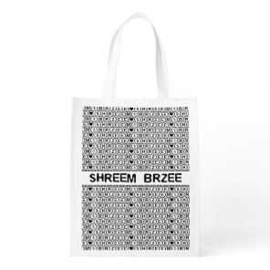 White Chant Shreem Brzee money mantra Grocery Bag