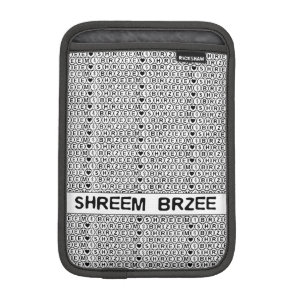 White Chant Shreem Brzee money mantra iPad Mini Sleeve