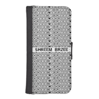 White Chant Shreem Brzee money mantra iPhone SE/5/5s Wallet Case