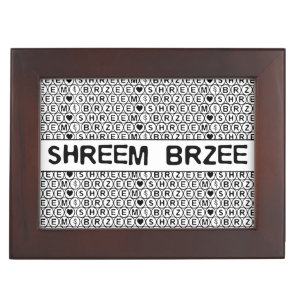 White Chant Shreem Brzee money mantra Keepsake Box