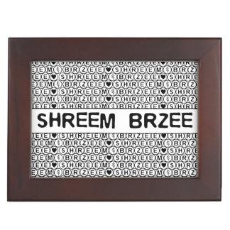 White Chant Shreem Brzee money mantra Keepsake Box