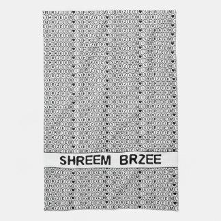 White Chant Shreem Brzee money mantra Kitchen Towel