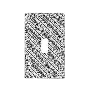 White Chant Shreem Brzee money mantra Light Switch Cover