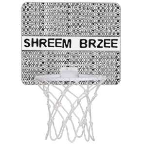 White Chant Shreem Brzee money mantra Mini Basketball Backboard
