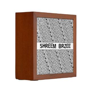 White Chant Shreem Brzee money mantra Pencil Holder