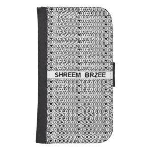 White Chant Shreem Brzee money mantra Phone Wallet