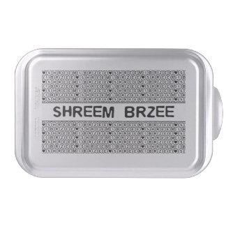 White Chant Shreem Brzee money mantra Cake Pan