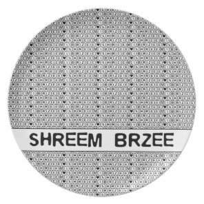 White Chant Shreem Brzee money mantra Plate