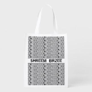 White Chant Shreem Brzee money mantra Reusable Grocery Bags