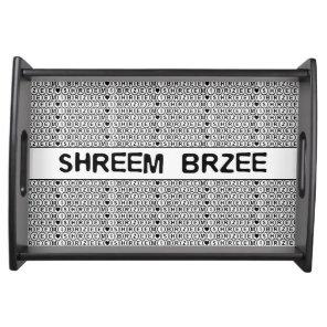 White Chant Shreem Brzee money mantra Serving Tray