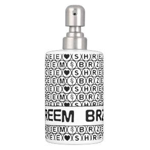 White Chant Shreem Brzee money mantra Soap Dispenser And Toothbrush Holder